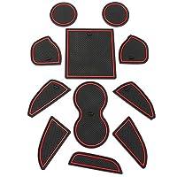インテリアラバーマット ゴムマット ドアポケットマット コンソールマット 滑り止め 対応車種 Dodge Challenger 2015-2019