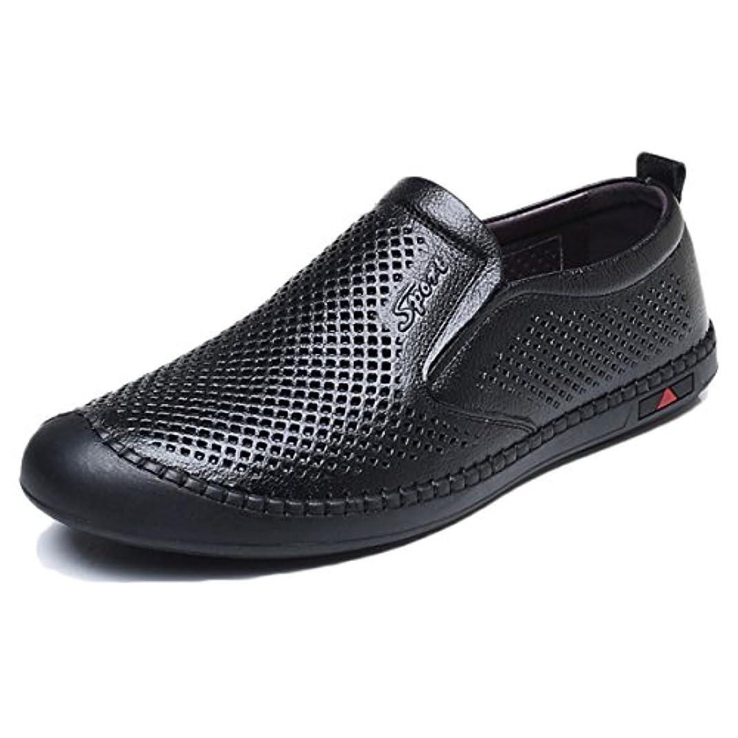 影のある圧縮された賢いCRAFEEL ドライビングシューズ メンズ 通気性 革靴 軽量 メッシュシューズ 本革 モカシン