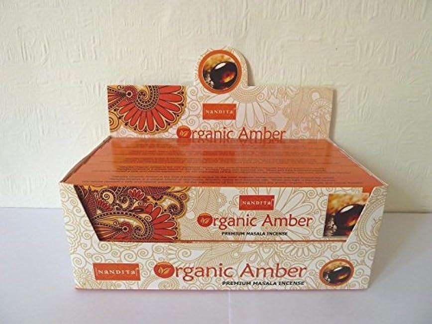 アジア受信バングNandita Amberプレミアム有機Masala Incense Sticks 15 gm X 12パケット