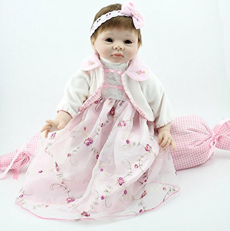 Nicery 人形 Babyリボーンベビードールソフトシリコン22インチ55センチメートル磁気口ラブリーリアルなかわいい少年少女の玩具ホワイトプリンセス Reborn Dolls JP