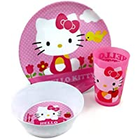 Zak! Hello Kitty 3 Piece Mealtime Set by Zak
