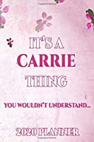 CARRIE: Personalised Name Planner 2020 Gift For Women & Girls 100 Pages (Pink Floral Design) 2020 Weekly Planner Monthly Planner
