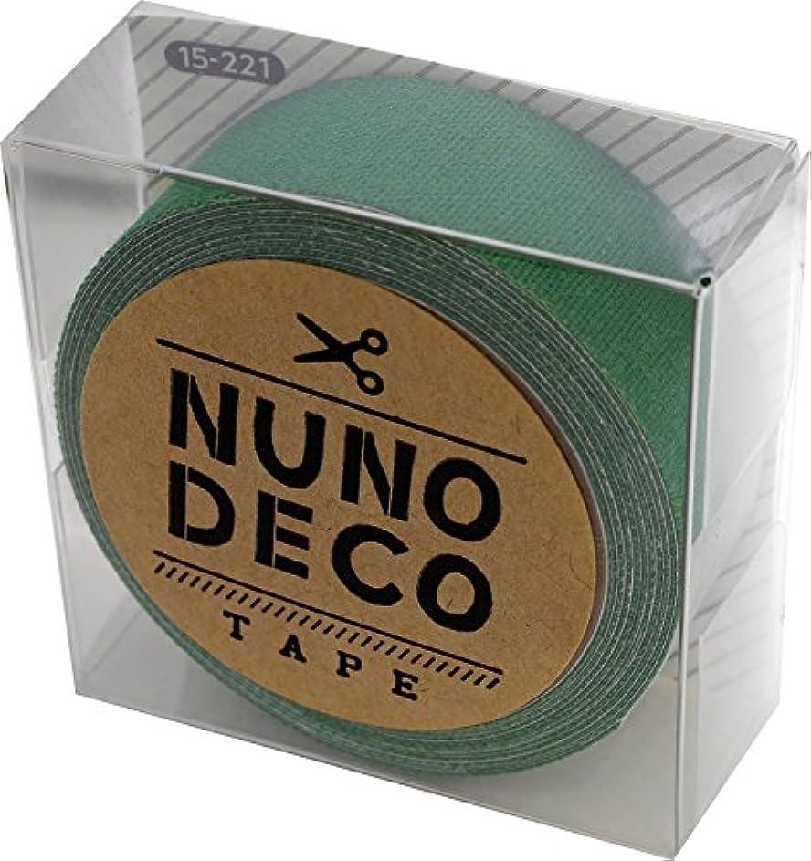 新しい意味作りガラガラKAWAGUCHI(カワグチ) NUNO DECO TAPE ヌノデコテープ 1.5cm幅 1.2m巻 はっぱ 15-221