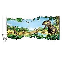 恐竜世界 3dウォールステッカー 恐竜 3d wall sticker ウォールペーパー 3d壁紙 3d ウォールシール 60*90cm