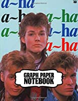 Notebook: A-ha Norwegian Rock Band Hunting High and Low Big Hit Album, Primary Copy Book Supplies Student Teacher Daily Creative Writing, Teenage Girls Boys Kids Adults Elementary Soft Cover Paper 8.5 x 11 Inches 110 Pages