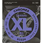 D'Addario ダダリオ エレキギター弦 フラットワウンド Jazz Light .011-.050 ECG24 【国内正規品】