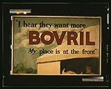 写真説明: '聞いてみたいか複数のBOVRIL。[自分の配置は前面からs.h.b.株式会社作成日公開されています。。L : s.n. , 1915表示します。概要ポスターA Bull採用で飾られた駅の接近するイギリス国旗。Bovrilとはブランド名のビーフ抽出を選択します。ノート:イギリスキャプションにバックボーン。REGD。いいえ]を選択します。の508。タイトルから項目を選択する場合に使用します。項目を説明します。第1次世界大戦イギリス--採用&登録--。第1次世界大戦イギリス--機...