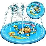 "Splash Pad Water Toy Sprinkler Mat Pool for Kids Toddlers 68"" Outdoor Summer Toys Kiddie Baby Swimming Pools - Fun Backyard T"
