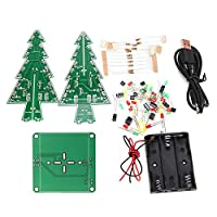 DIYクリスマスツリーLEDフラッシュキット3D電子学習キット - カラフルなLED