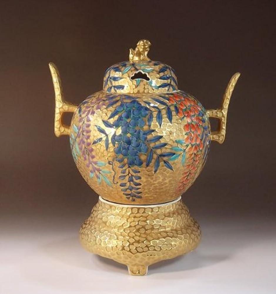 何十人もいくつかのビヨン有田焼?伊万里焼の陶器高級香炉|贈答品|ギフト|記念品|贈り物|黄金藤絵?陶芸家 藤井錦彩