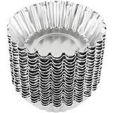(20, Silver) - Dealglad 20pcs Egg Tart Aluminium Cupcake Cake Cookie Mould Lined Mould Tin Baking Tool