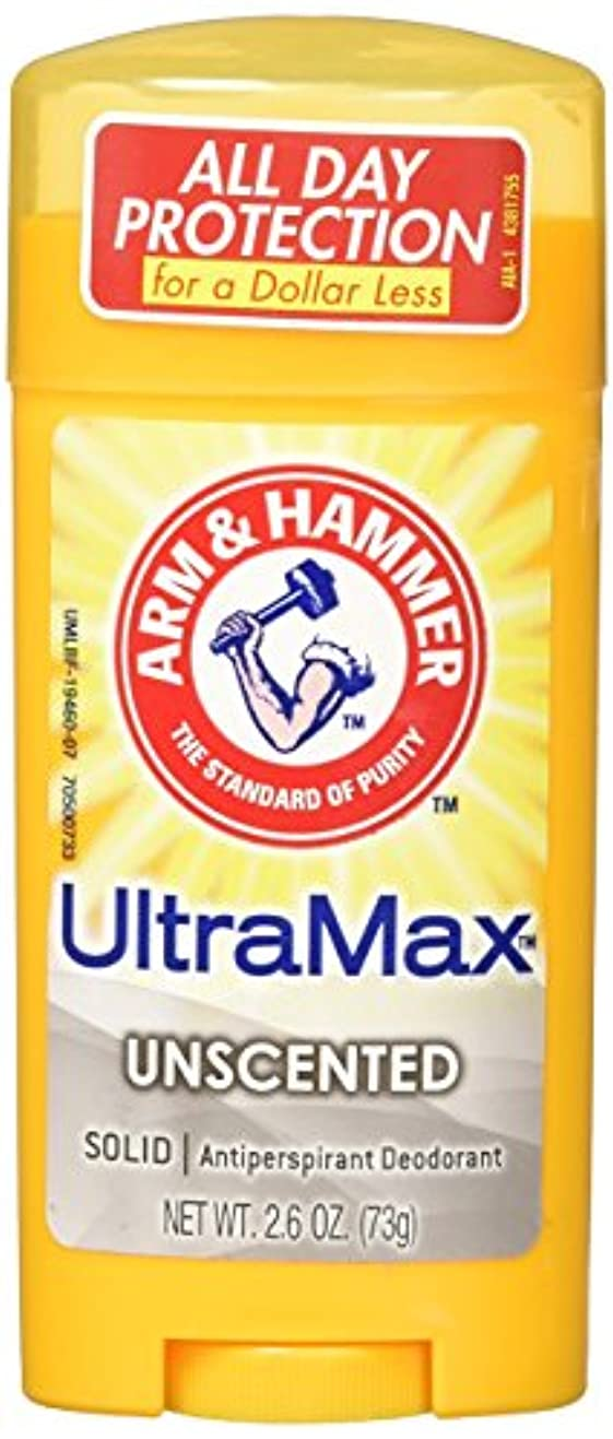 再現する接辞時刻表Arm & Hammer Ultra Max Advanced Anti-Perspirant & Deodorant Invisible Solid Unscented 73g (並行輸入品)