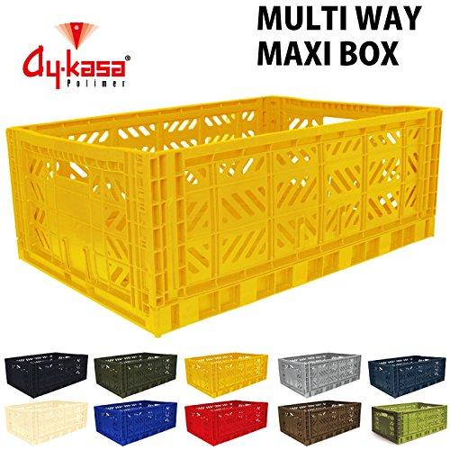 AY-KASA エーワイ カーサ MULTIWAY BOX マルチウェイボックス MAXIBOX 折りたたみコンテナ オリコン フタ無し収納ボックス 収納カゴ コンテナボックス