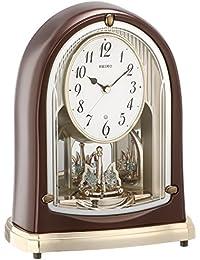 セイコー クロック 置き時計 スタンダード 電波時計 ツイン・パ 茶 メタリック BY239B SEIKO