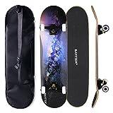BAYTTER スケボー コンプリート 31インチ スケートボード ABEC11ベアリング採用 メンテナンスレンチとスケボー用バッグ付 全3色