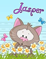 """Jasper: Personalized Book with Child's Name, Primary Writing Tablet for Kids, 65 Sheets of Practice Paper, 1"""" Ruling, Preschool, Kindergarten, 1st Grade, 8 1/2"""" x 11"""""""