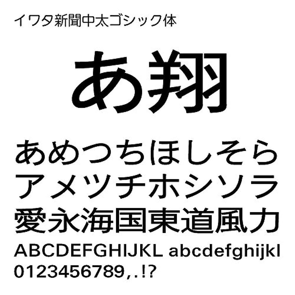 イワタ新聞中太ゴシック体Std OpenType Font for Windows [ダウンロード]