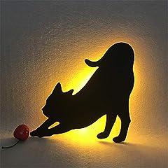 人感センサー 搭載 壁掛け LED 照明 ライト ウォールランプ 猫 ウォール 夜間ライト 玄関用 授乳用 寝室用 粘着固定 自動点灯 電式 省エネ 穴あけ不要 テープ付き (4)