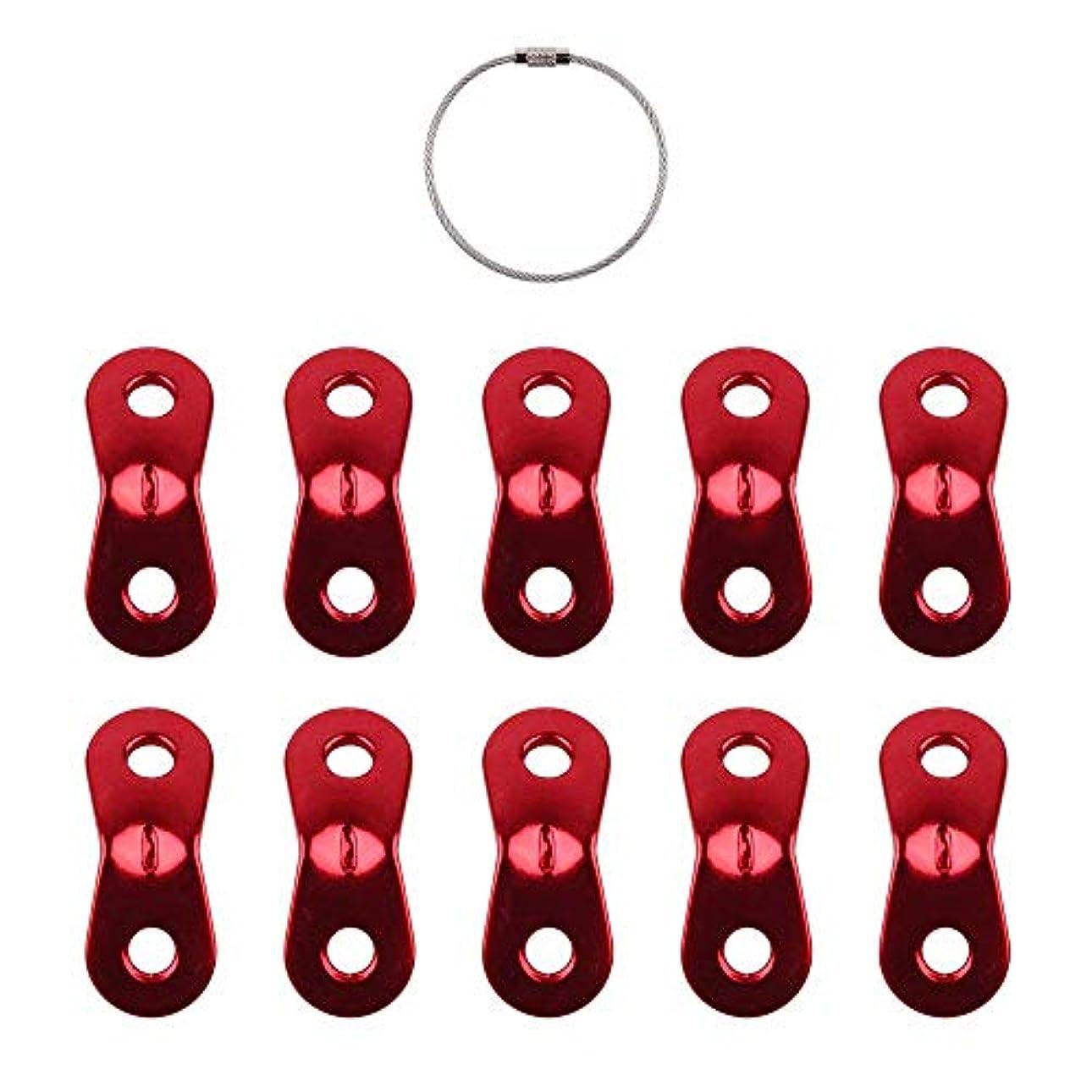 裁定割合聴くアルミ自在金具ロープテンショナー頑丈で優れた耐久性 しっかりに固定可能 取り付け簡単10個セット