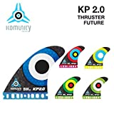 komunity フィン KP2.0 HONEY COMB-THRUSTER FUTURE レッド