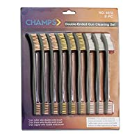 Champs 9Pieces double-endedガンクリーニング受信機Bristleブラシ[ 3pcsナイロン、3pcs銅、3pcs真鍮]