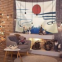 """浮世絵タペストリーの壁掛け、アートタペストリーの壁掛け、ヒッピー自由奔放に生きるのトリッピータペストリー、アートカーペットブランケットヨガマットビーチタオル、壁の装飾、200x150cm / 78.7""""x59.1"""" (Color : E)"""
