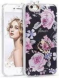 iPhone6s ケース,Imikoko iPhone6 ケース リング おしゃれ かわいい きらきら 花 衝撃 アイフォン6sケース