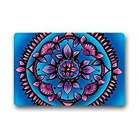 注文の曼荼羅ペイズリーのダマスク織の非織物のMultifuntional Doormat 23.6 x 15.8インチ