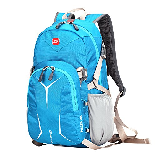 Soarpop 20Lデイバッグ 大小セット多機能バッグ アウトドアバッグ カジュアルリュックサック ハイキング/トラベル/旅行/スポーツ用バッグ 撥水加工 14インチpc収納 コスパ高い 軽量リュック 男女兼用 ブルー