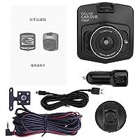 2.4インチTFT 12メガピクセルのHDデュアルレンズダッシュボード車の車両フロントリアカメラタコグラフ1920 * 1080 pビデオDVRカムレコーダー