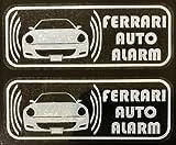 フェラーリ 612 スカリエッティ セキュリティ ステッカー fe006wos - 580 円