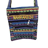 モロッコHandsewnキャンバス刺繍Crossbodyハンドバッグ財布