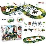Lemonda 最新528 恐竜トラックレーシングカーセット レールセット プラスチック マジック Dinosaur Racing Car Set トラックス 子供 おもちゃ 車両付き 誕生日 プレゼント