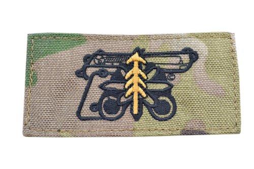 ハンドガン 1等軍曹 プレイスタイル ベルクロ付き ワッペン パッチ 徽章 サバゲー マルチカモ MC