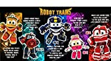 Kay Alf Duck Selly Victor 5 kinds of friends, Korean Animation Robot Train Transformer, Train Robot character, Toy Kids