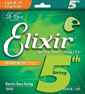 Elixir エリクサー ベースバラ弦 NANOWEB ニッケル 5弦用 Long Scale .130 #15430 【国内正規品】