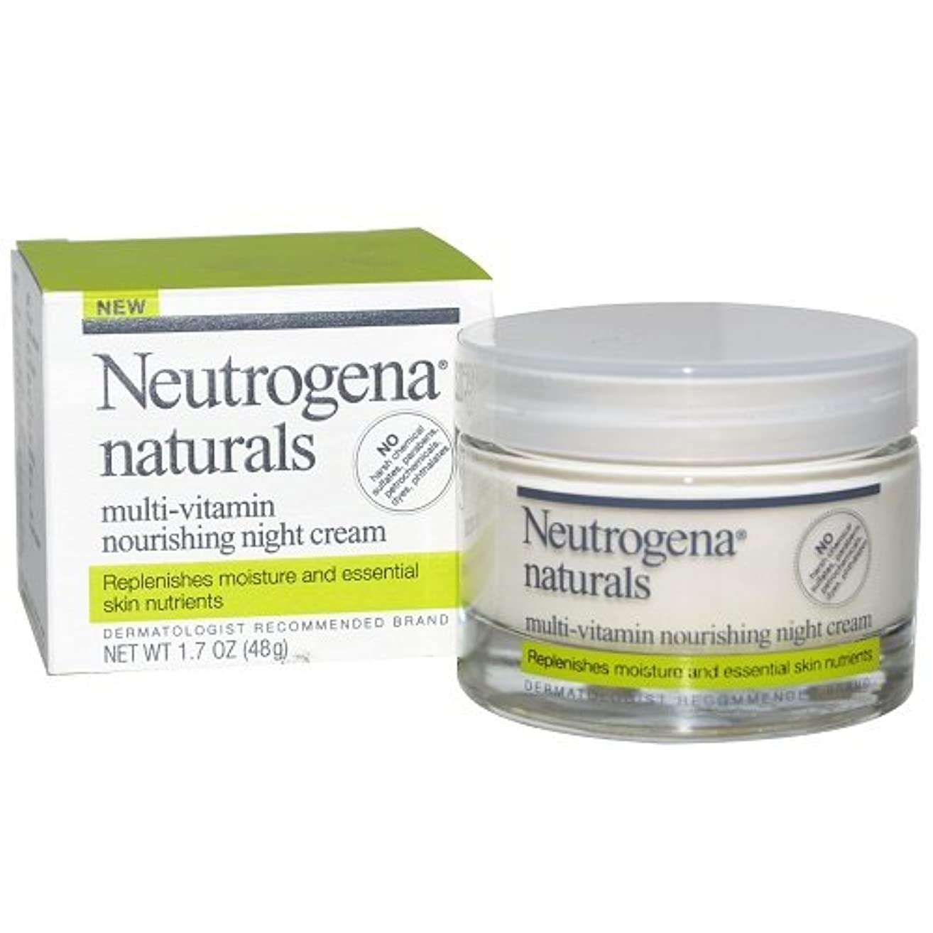 メロドラマティックコテージ隣人[海外直送品] Neutrogena naturals - Multi-Vitamin Nourishing Night Cream 1.7oz(48g)