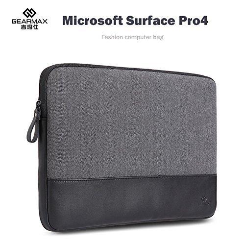 surface Pro 4 ケース レザー ポーチ カバン型 軽量/薄 サーフェスカバー サーフェイス プロ4 Microsoft Surface対応ケース タブレットケース/タブレットカバー マイクロソフト PCタブレット PRO4-MAX-X80-T51109