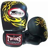 Twins ボクシンググローブ 本革製 フェニックス Black