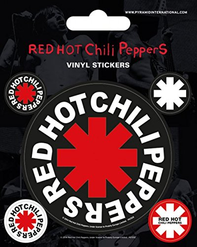 RED HOT CHILIPEPPERS レッド ホット チリペッパーズ ステッカー 大 ・小 5ケ入り
