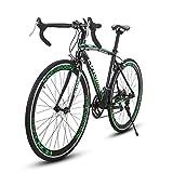CYRUSHER(セラショウ XC790自転車 ロードバイク26インチ シマノ 14段変速 アルミフレーム ディスクブレーキ 通勤 通学 700*28C (グリーン)