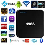 AKASO M8S TV Box WIFIアンドロイド TV ボックス Android 4.4 HDMI 8コア 2G/8G Google Androidスマート TVチューナー Bluetooth搭載