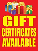 Gift Certificates Available Retail Display Sign 18w x 24h 5 Pack [並行輸入品]