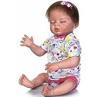 NPK 22インチ半分ボディSiliconeビニールReborn人形Lifelike解剖学的に正しいベビーガール人形