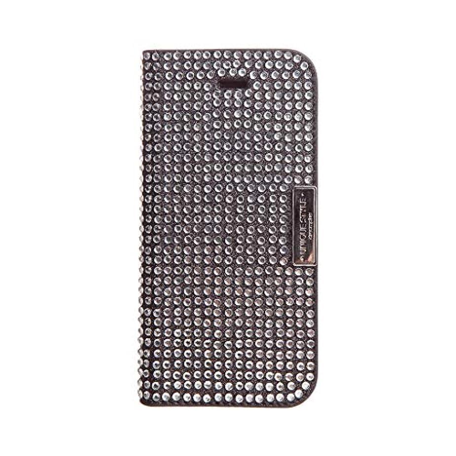 私のトチの実の木鉄道【日本正規代理店品】dreamplus iPhone SE/5s/5 ケース Persian Leather Diary ブラック 手帳型 DP3108i5S