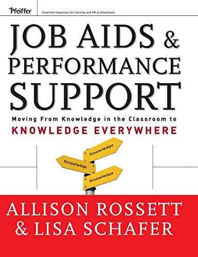 Download Job Aids and Performance Support: Moving From Knowledge in the Classroom to Knowledge Everywhere (Essential Knowledge Resource (Hardcover)) 0787976210