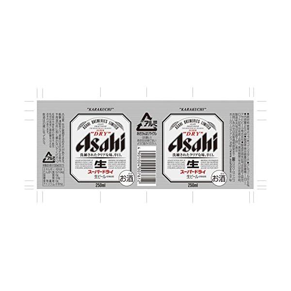 アサヒ スーパードライ 250ml×24本の紹介画像4