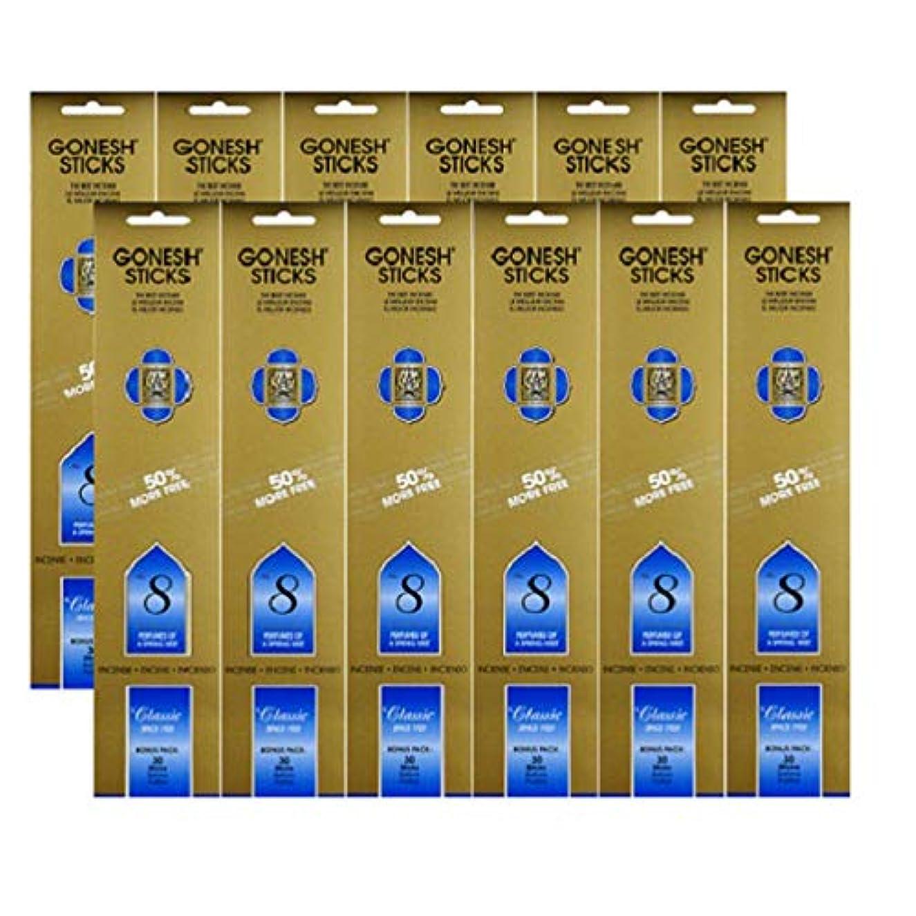 ケープこどもセンター調整するGonesh #8 Bonus Pack 30 sticks ガーネッシュ#8 ボーナスパック30本入 12個組 360本