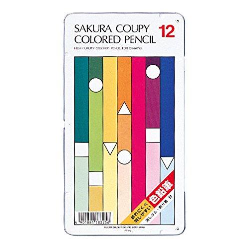 サクラクレパス クーピー色鉛筆12色(スタンダード) PFY12 2個