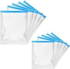 旅行用衣類圧縮袋 M/L10枚組 品質保証書付き 衣類収納袋 衣類圧縮パック 衣類スッキリ収納 かさばる荷物が1/2に圧縮 防塵防湿 掃除機不要